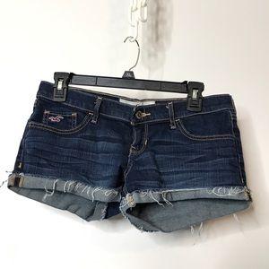 Hollister Denim Booty Shorts Size 5 Cuffed